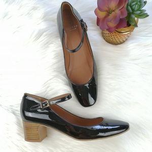 Hudson London Jenna Patent Heeled Mary Janes Shoes